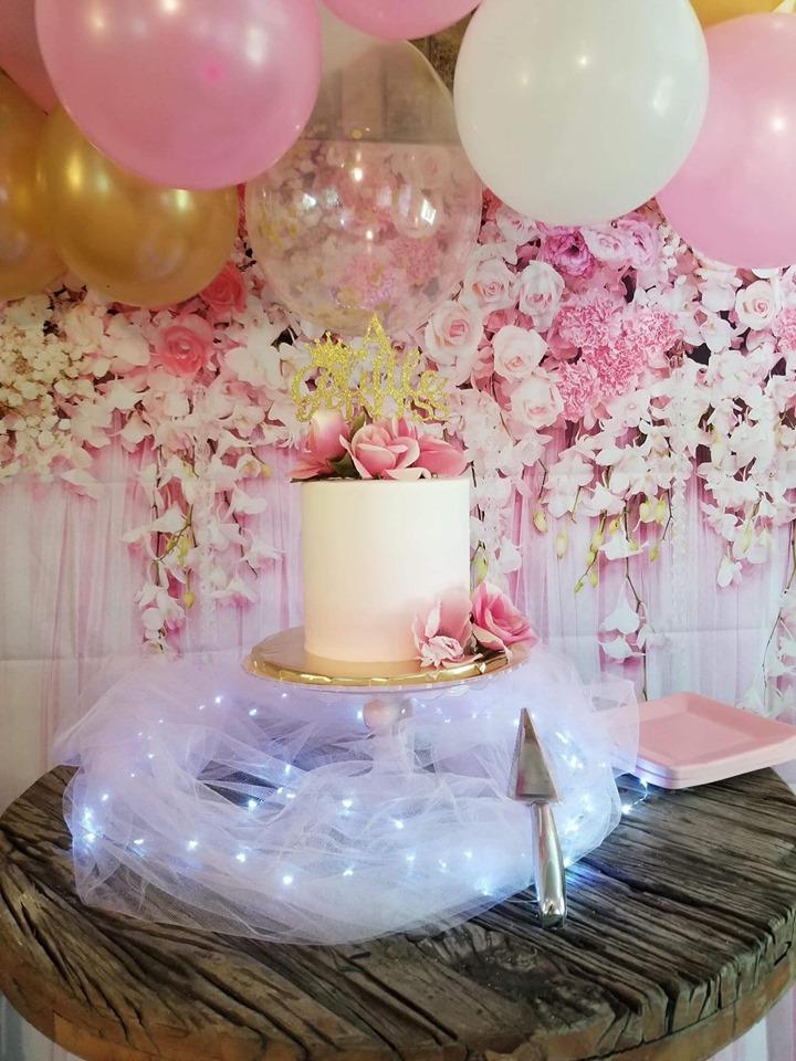 Custom cake at a birthday party in fairhope, al